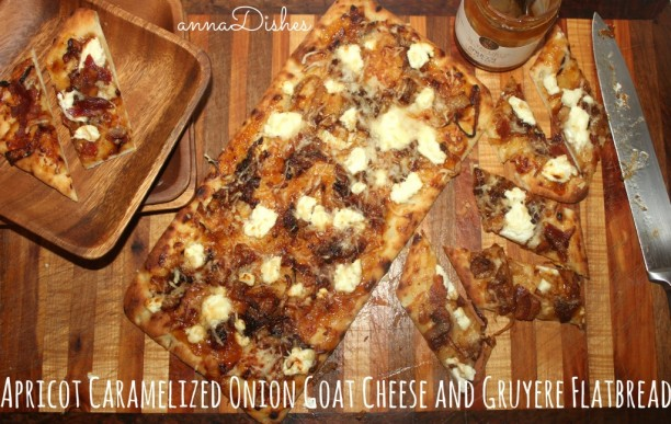 Apricot Caramelized Onion Goat Cheese Flatbread