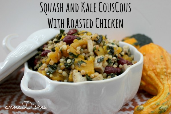 Squash and Kale Couscous with Roasted Chicken